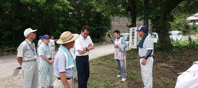 台風8号の被災地を訪問しました。